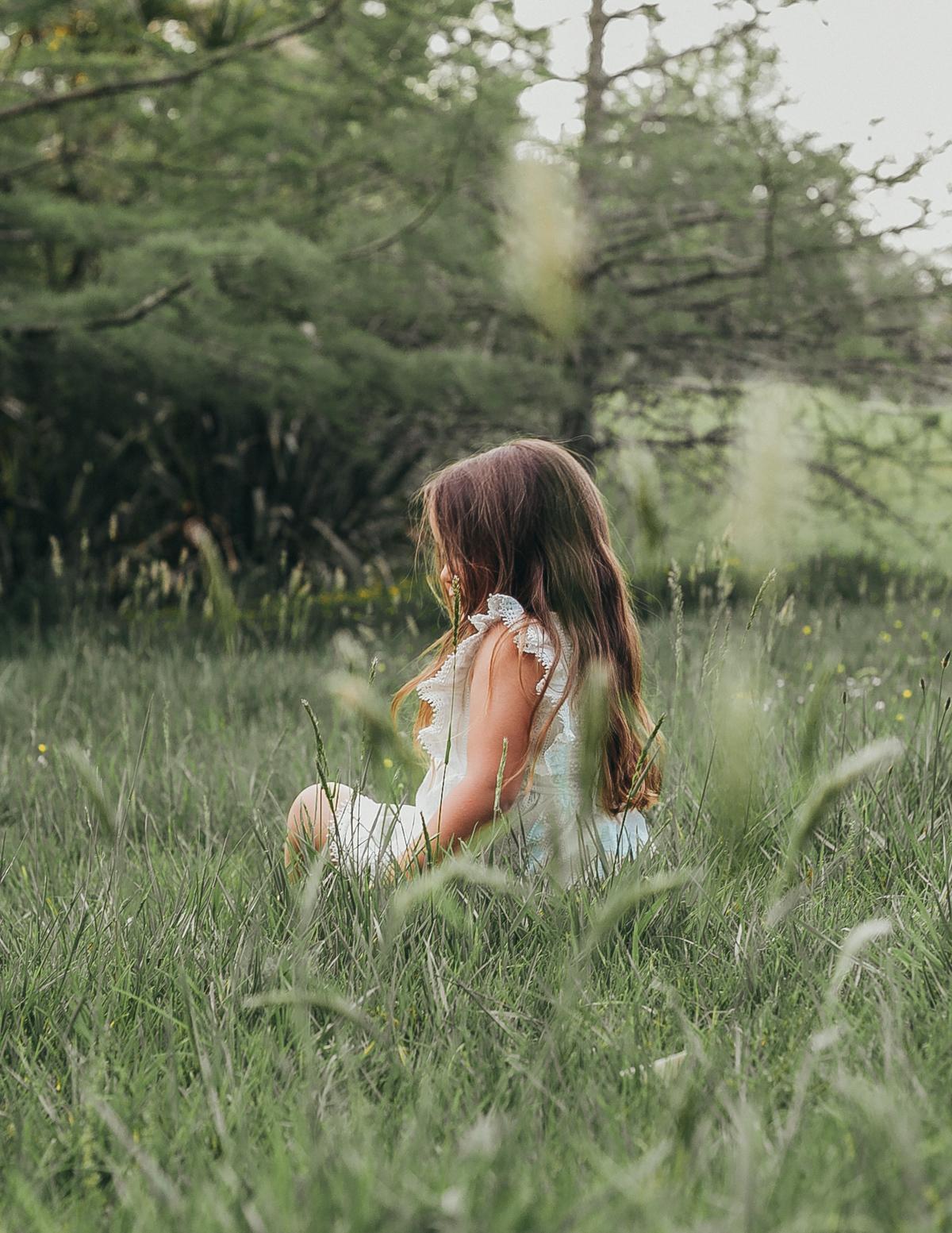 Karibou Kids: Little Angel Cotton and Lace Dress - White 4YRS image