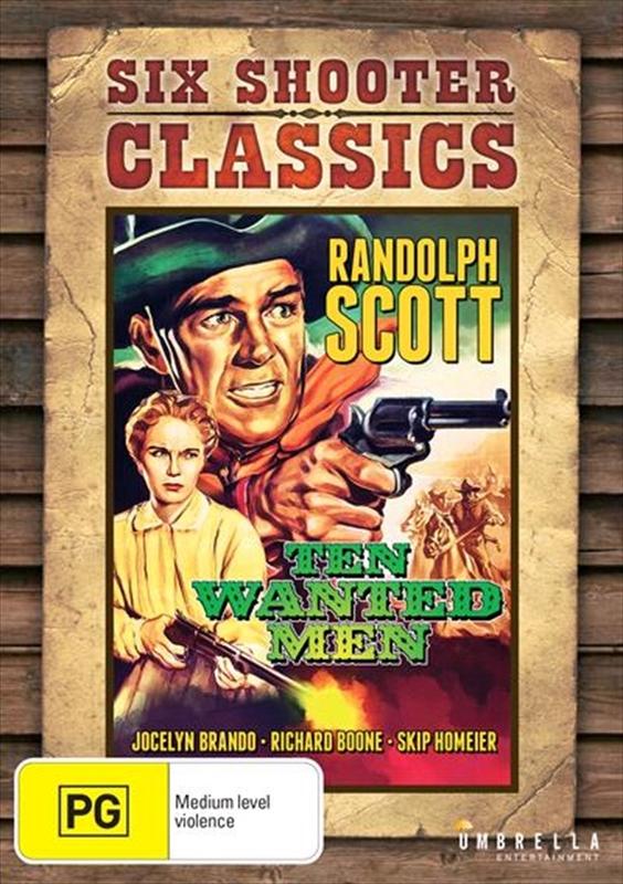 Ten Wanted Men (Six Shooter Classics) on DVD