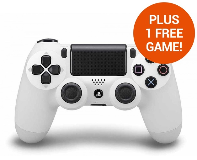 PlayStation 4 DualShock 4 v2 Wireless Controller - White for PS4