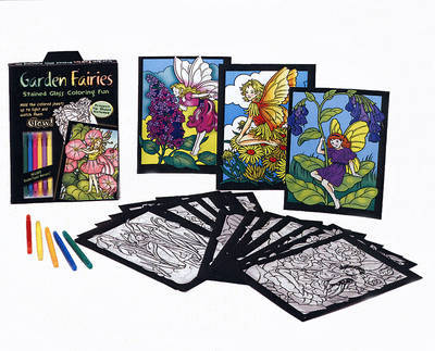 Garden Fairies: Stained Glass Coloring Fun by Darcy May image