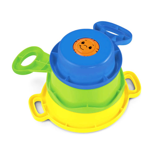 Fisher Price Brilliant Basics Stack & Nest Pots & Pans image