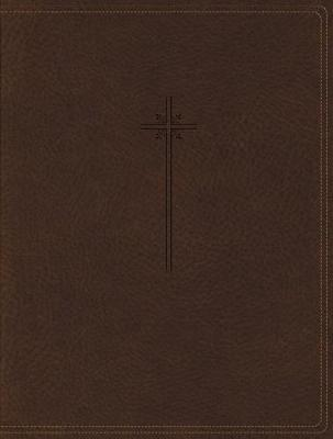 NIV, Journal the Word Bible, Leathersoft, Brown, Red Letter Edition, Comfort Print by Zondervan image
