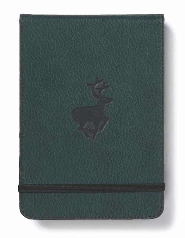 Dingbats Wildlife: A6 Green Deer Reporter Notebook - Lined