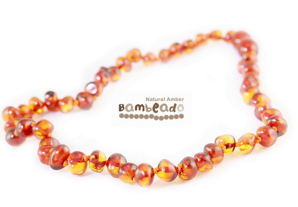 Bambeado Amber Necklace Baby Bud - Cognac image