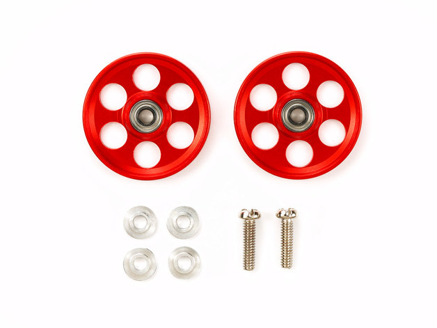 HG Lightweight 19mm Aluminum Ball-Race Rollers (Ringless/Red)