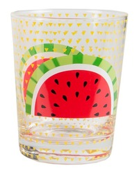 Tropical Summer: Glass Tumbler - Yellow
