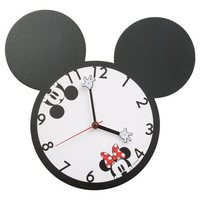 Disney Mickey Mouse and Minnie Mouse Shaped Wall Clock