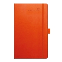 Tucson Ivory Medium 2018 Weekly Diary - Orange