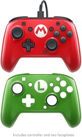 PDP Faceoff Wired Pro Controller for Switch - Mario (2 pack) for Nintendo Switch