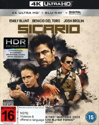 Sicario on Blu-ray, UHD Blu-ray