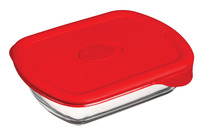 Pyrex: Pro Rectangle Storage Dish - Red (1.1L)