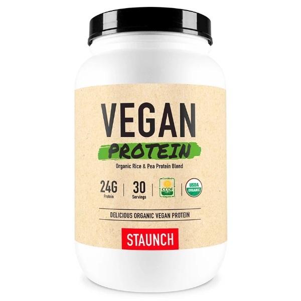 Staunch Nutrition Vegan Protein - Organic Vanilla (1102g)