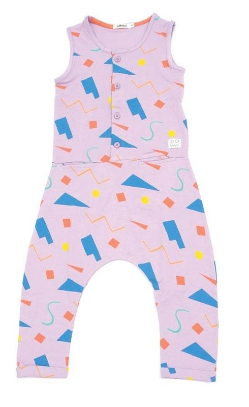 Indikidual: Miami Shapes Jump Suit Sleeveless (4-5 years)