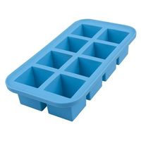 Silicone 8 Cube Large Ice Tray Blue