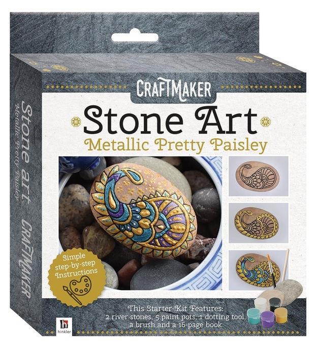 Craftmaker: Metallic Stone-Art Kit - Pretty Paisley