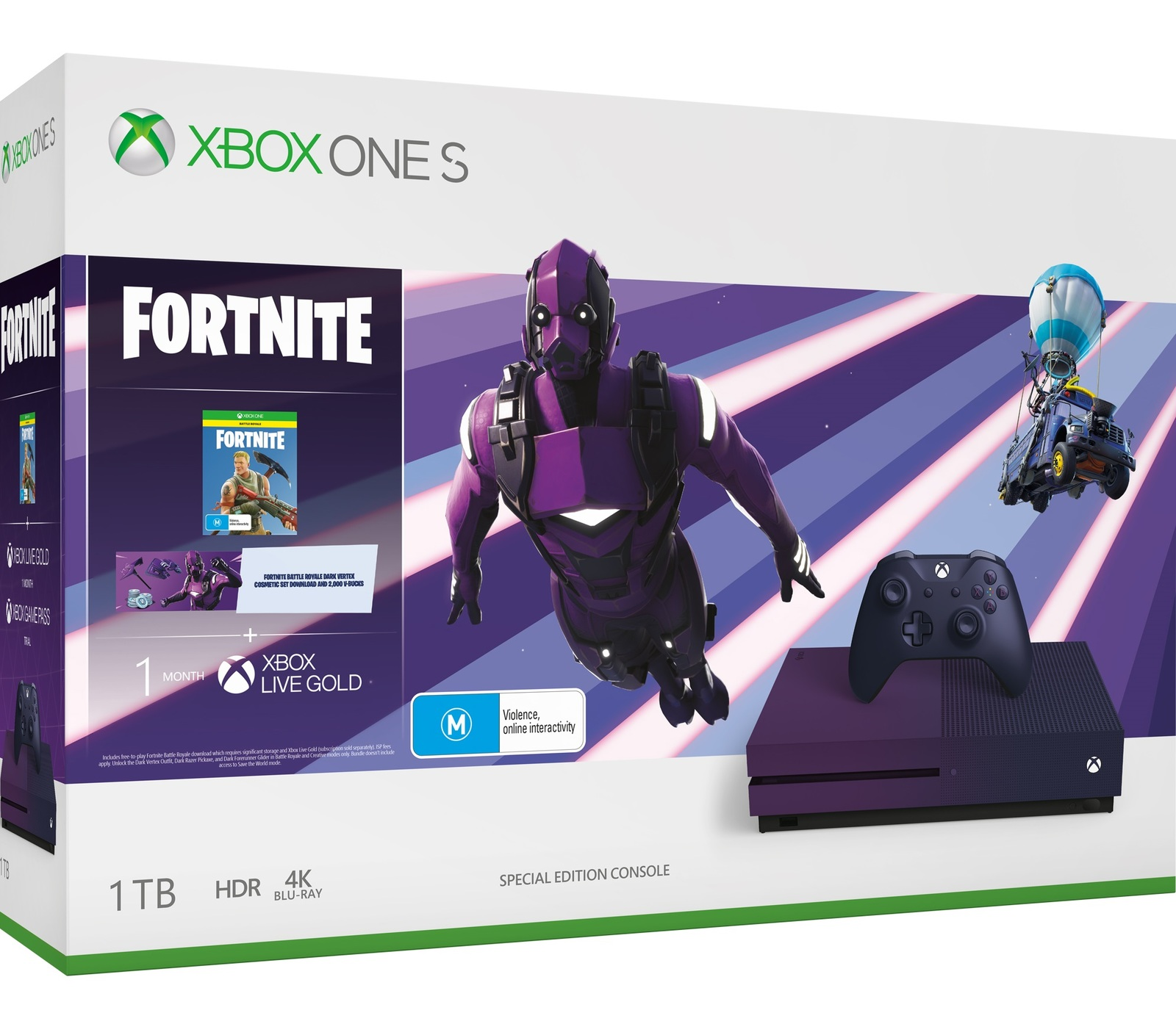 Xbox One S 1TB Fortnite Battle Royale Special Edition Console Bundle for Xbox One image