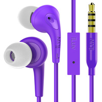 iLuv: Bubblegum 3 - Stereo Earphones with Mic (Purple)
