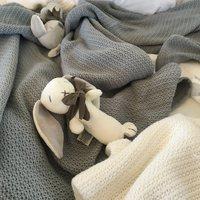 Ecosprout: Cotton Cellular Bassinet Blanket - Dove Grey image