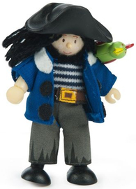 Le Toy Van: Budkins - Jolly Pirate with his Parrot