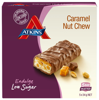 Atkins Endulge Bars - Caramel Nut Chew (5 x 34g)