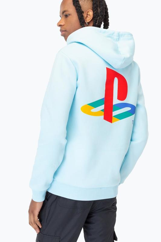 Just Hype: PlayStation Blue Crest Mens Pullover Hoodie - Small