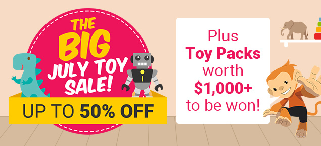 The Big July Toy Sale!