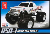USA-1 4x4 Monster Truck 1/32 Snap-Fit Model Kitset