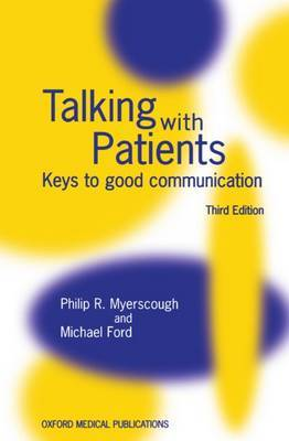 Talking with Patients by Michael J. Ford