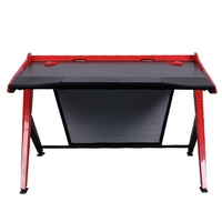 DXRacer Gaming Desk (Black & Red) for