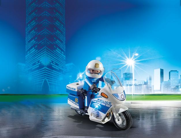 Playmobil: Police Bike with LED Light