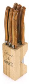 Andre Verdier Laguioles Debutant 6 Piece Knife Block - Wood