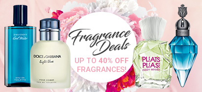 Up to 40% off Fragrances!