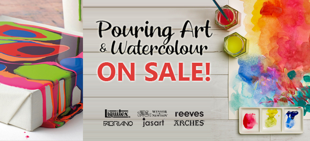 Pouring Art & Watercolour Sale!