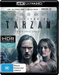 The Legend of Tarzan on Blu-ray, UHD Blu-ray, UV