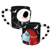Nightmare Before Christmas Sculpted Ceramic Mugs (Jack and Sally, 20 oz)