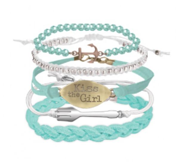 Neon Tuesday: The Little Mermaid - Kiss The Girl Bracelet Set