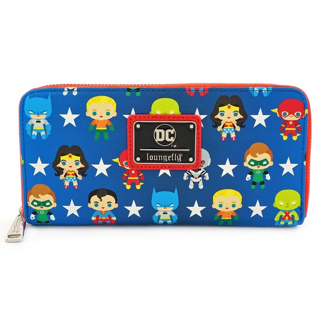 Loungefly: Justice League - Chibi Zip-Around Wallet