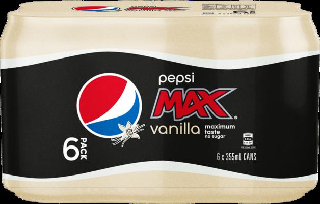 Pepsi Max Vanilla Cans 355ml 24pk