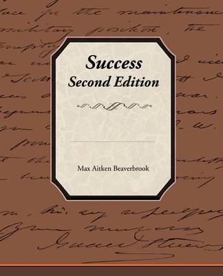 Success - Second Edition by Max Aitken Beaverbrook, Bar image