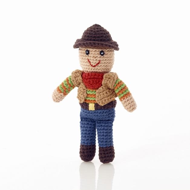 Pebble: Cowboy Rattle - Mini