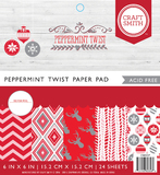 Craft Smith 6 x 6 Paper Pad - Peppermint Twist