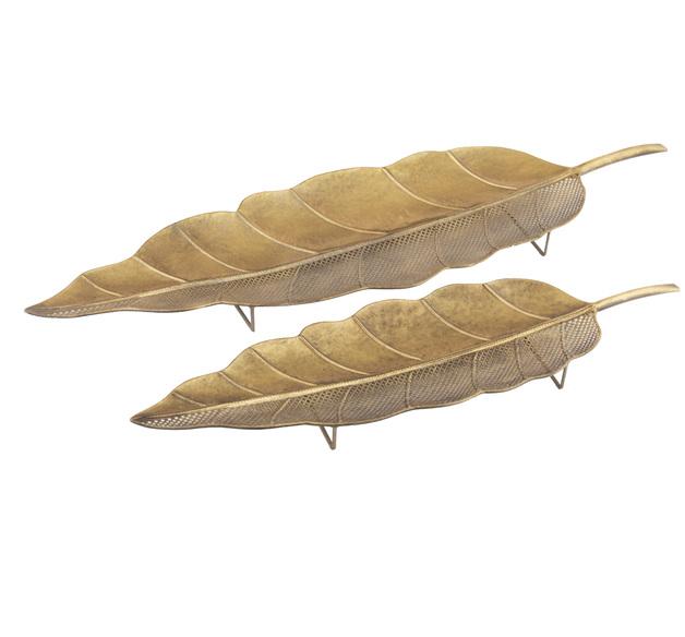 Amalfi: Aurelia Leaf Tray Set/2 (21.5x71x4.5cm/26.5x92.5x6cm)