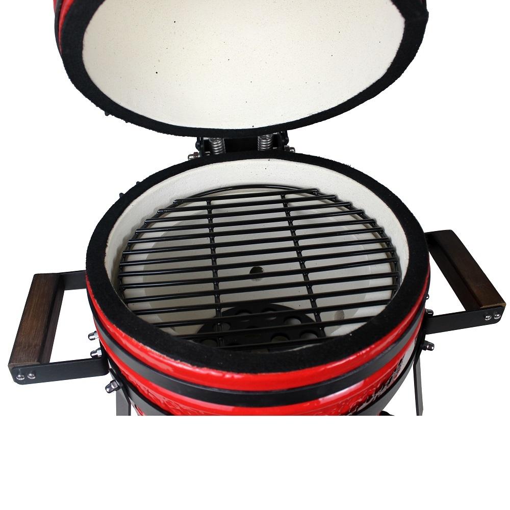 "Gorilla: Kamado Ceramic Portable Grill BBQ (Red) | 13"" image"