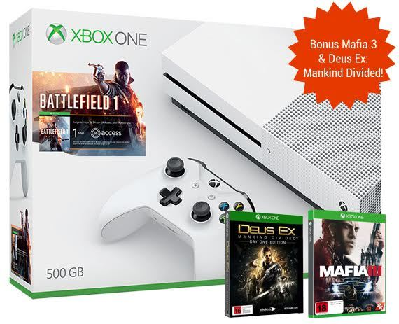 Xbox One S 500GB Battlefield 1 Console Bundle for Xbox One