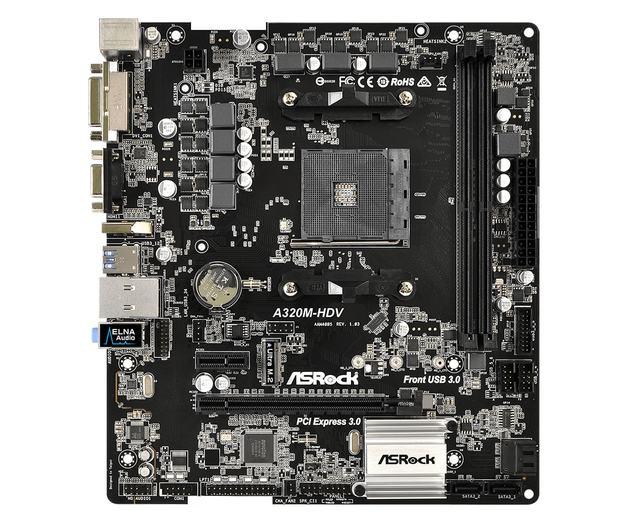 ASRock A320M-HDV mATX AMD Motherboard