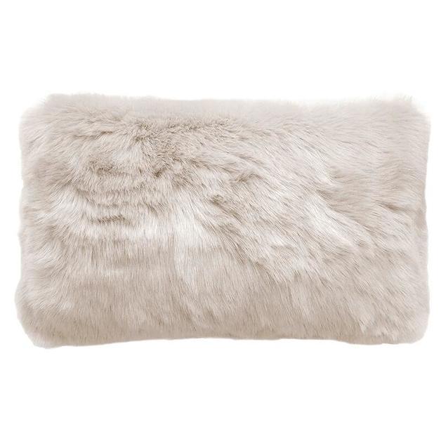 Bambury: Faux Fur Cushion - Pebble (30 x 50cm)