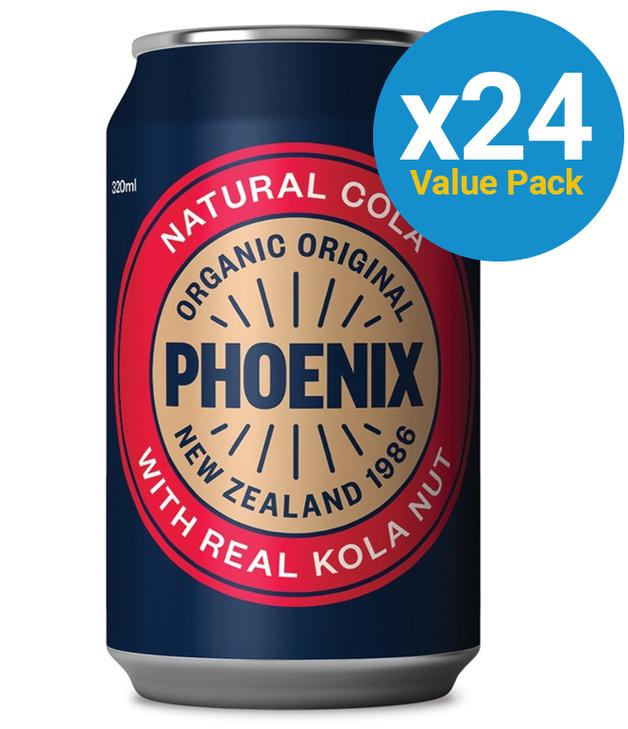 Phoenix Organic Cola 320ml 24pk