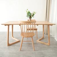 Yara Natural Solid Oak V-Leg Dining Table
