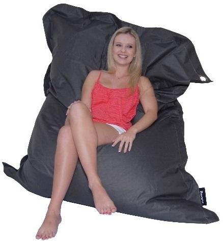 Beanz Mega Bean Indoor/Outdoor Bean Bag Cover - Black