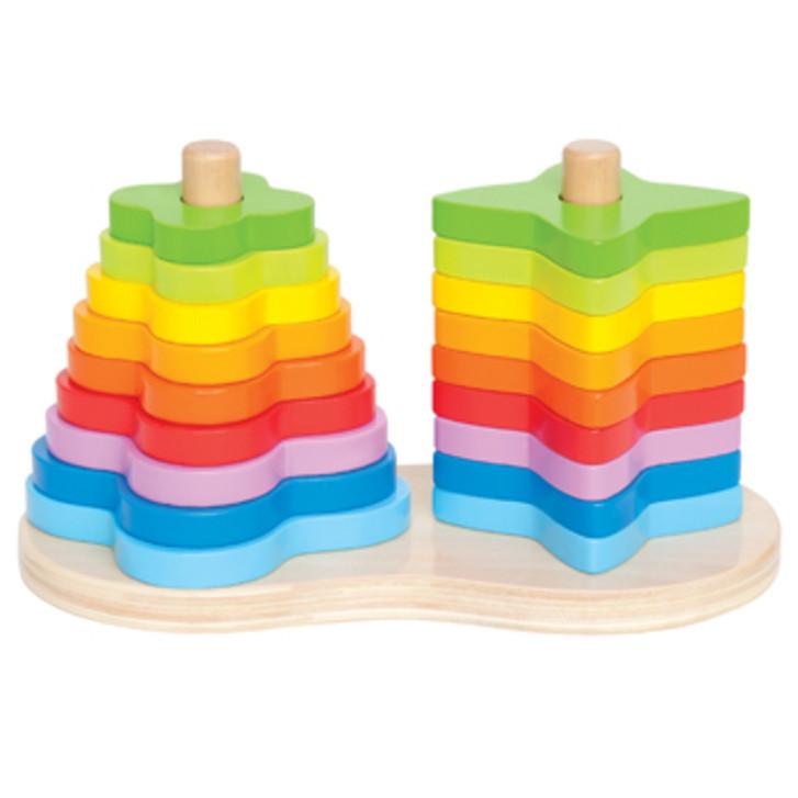 Hape: Double Rainbow Wooden Stacker image